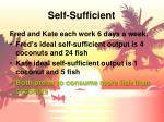 self sufficient