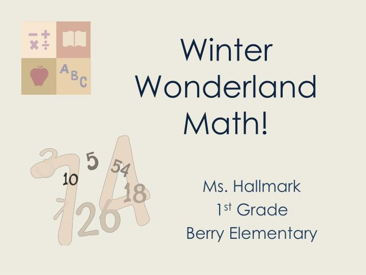 Winter wonderland math
