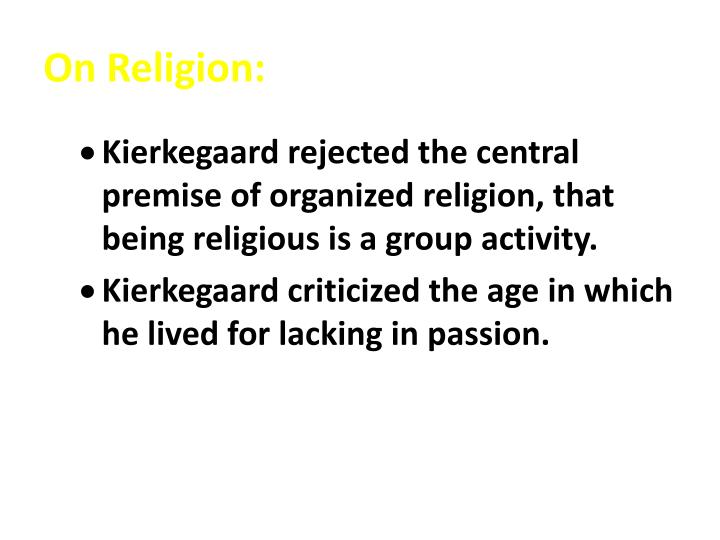 On Religion: