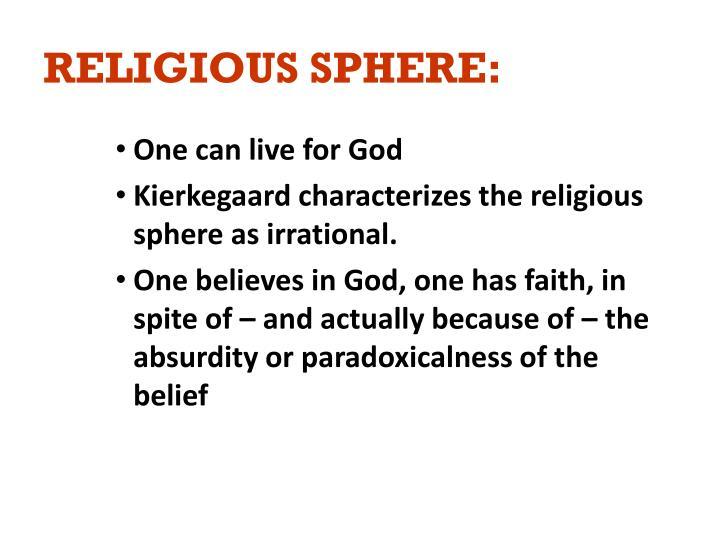 RELIGIOUS SPHERE:
