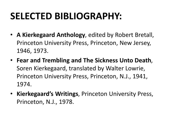 SELECTED BIBLIOGRAPHY: