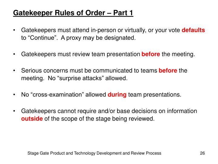 Gatekeeper Rules of Order – Part 1