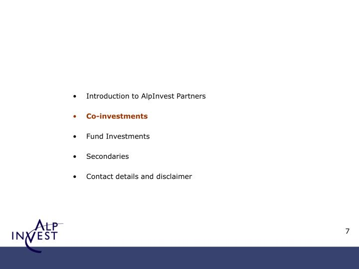 Introduction to AlpInvest Partners