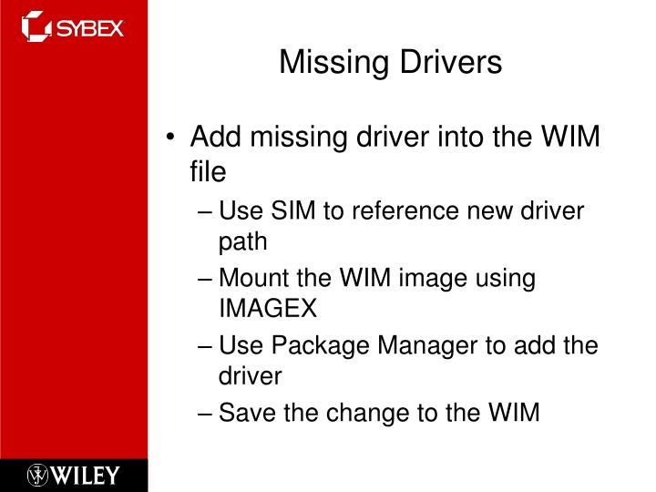 Missing Drivers