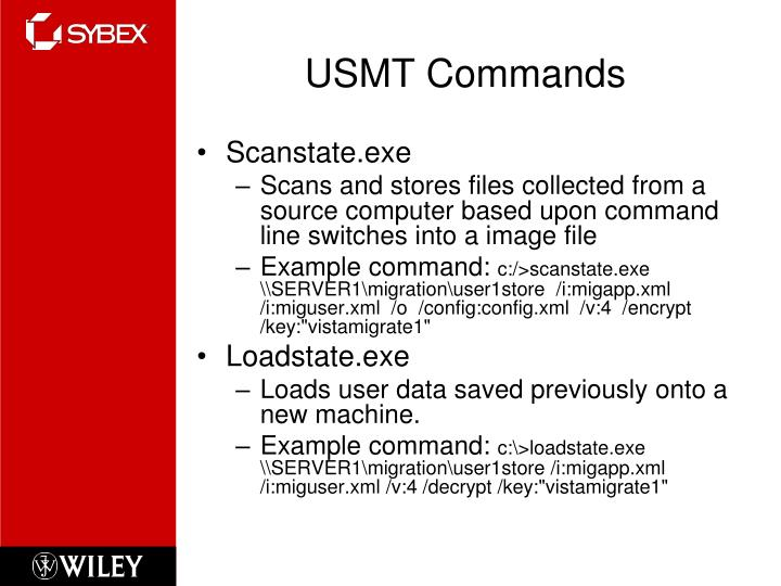USMT Commands