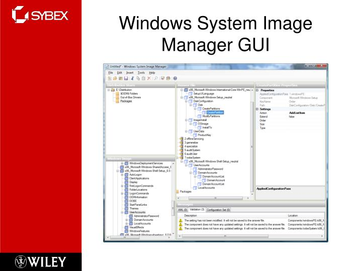 Windows System Image Manager GUI