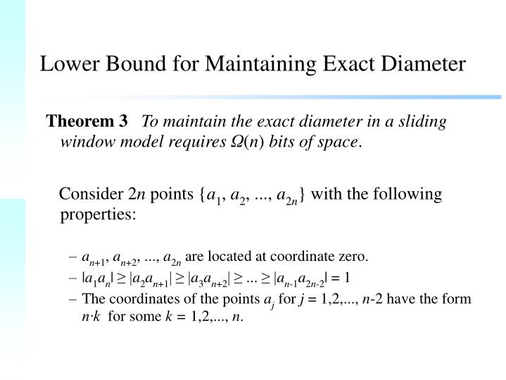 Lower Bound for Maintaining Exact Diameter