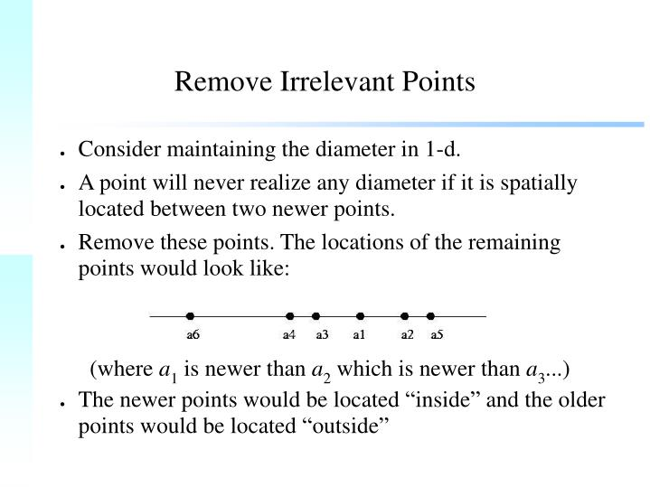 Remove Irrelevant Points