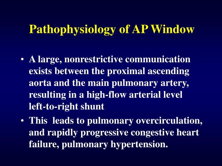 ppt - aortopulmonary window powerpoint presentation