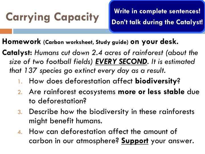 What Determines The Carrying Capacity Of An Ecosystem Weegy – Carrying Capacity Worksheet