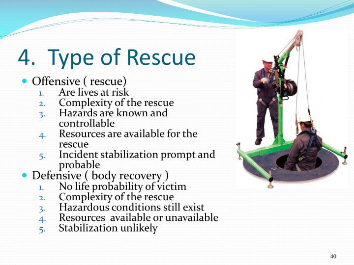 4.  Type of Rescue