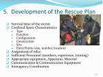 5 development of the rescue plan