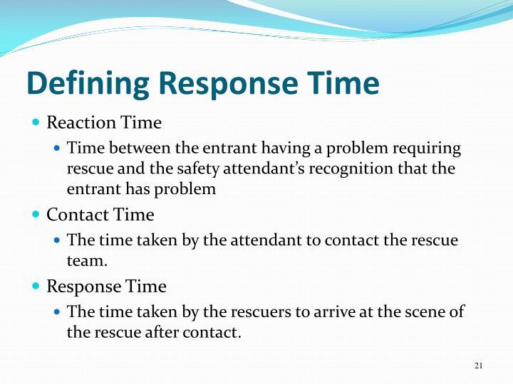 Defining Response Time