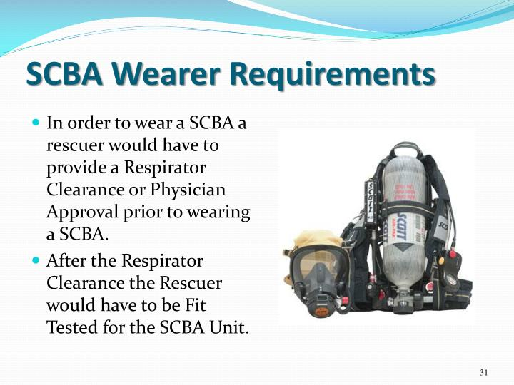 SCBA Wearer Requirements