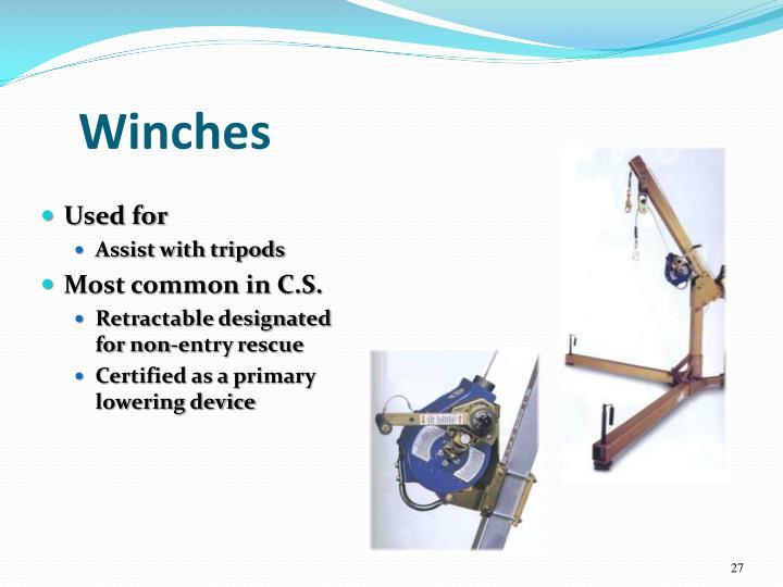 Winches