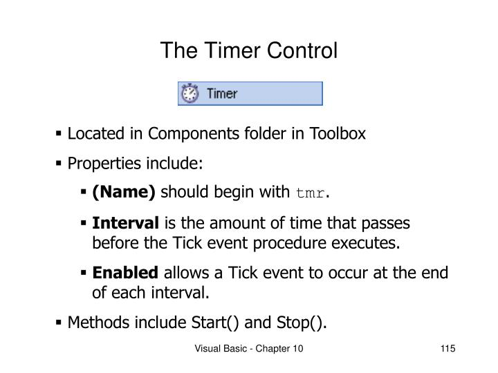 The timer control