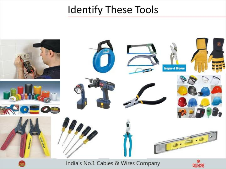 Identify These Tools