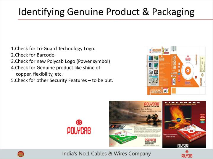 Identifying Genuine Product & Packaging