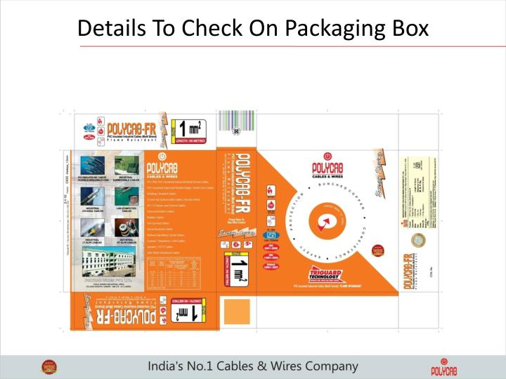 Details To Check On Packaging Box