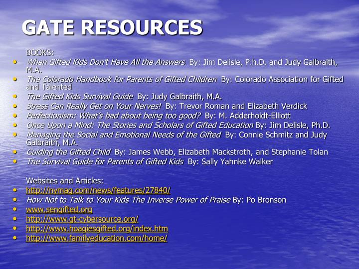 GATE RESOURCES