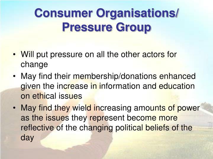 Consumer Organisations/