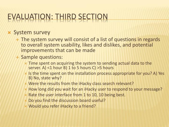 System survey