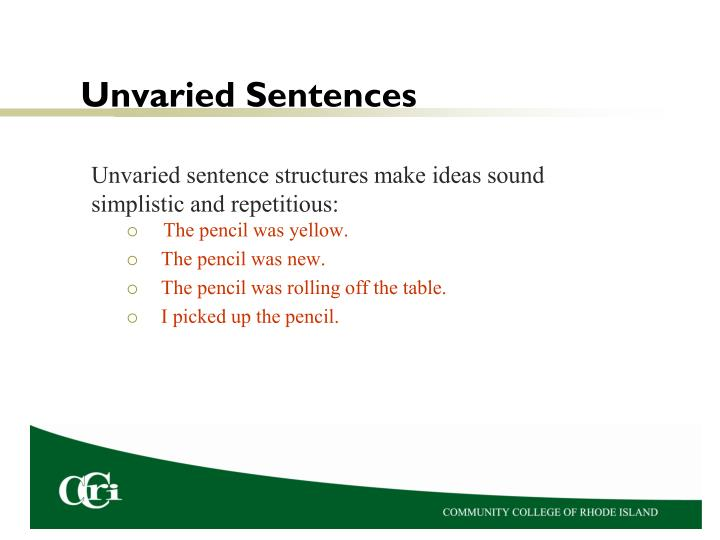 Unvaried sentences