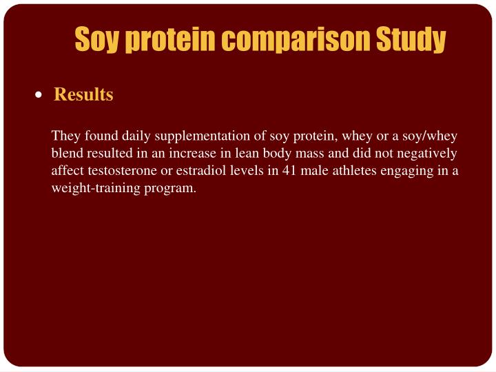 Soy protein comparison Study