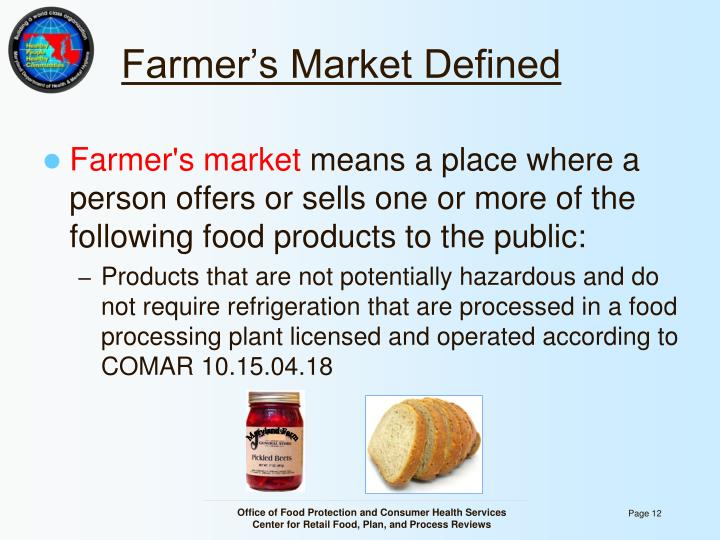 Farmer's Market Defined