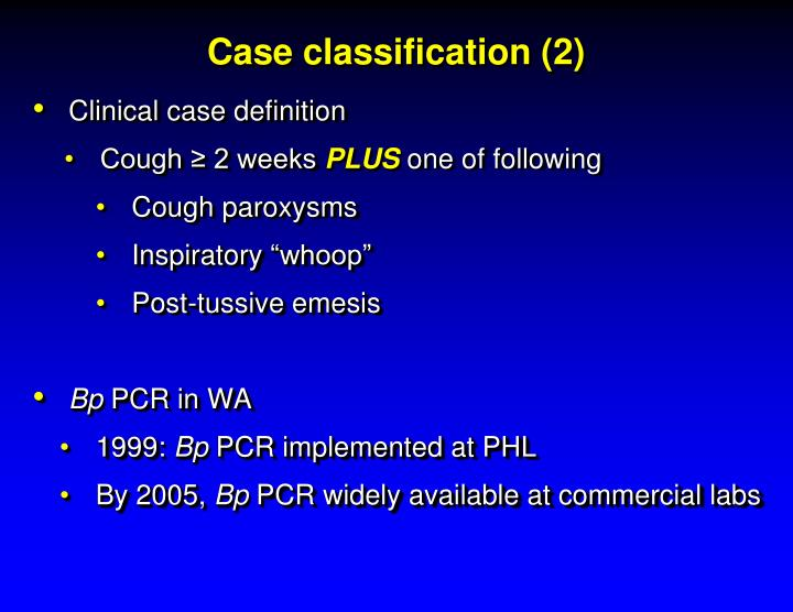 Case classification (2)