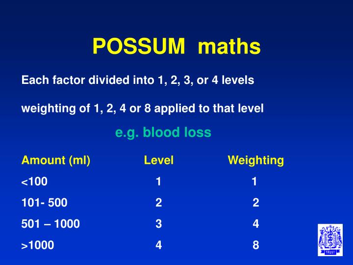 POSSUM  maths