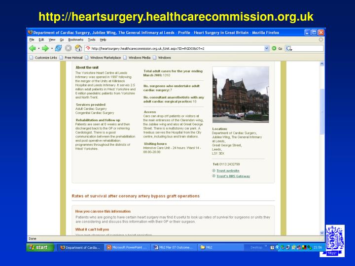 http://heartsurgery.healthcarecommission.org.uk