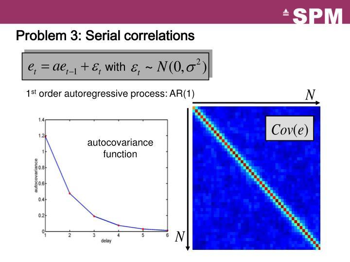 Problem 3: Serial correlations
