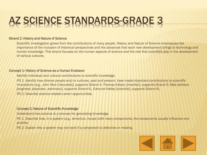 Strand 2: History and Nature of Science