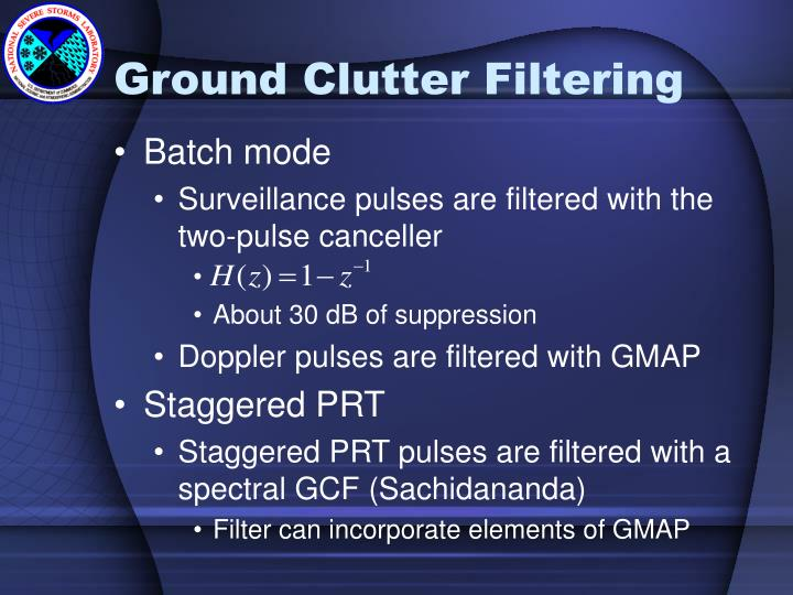 Ground Clutter Filtering