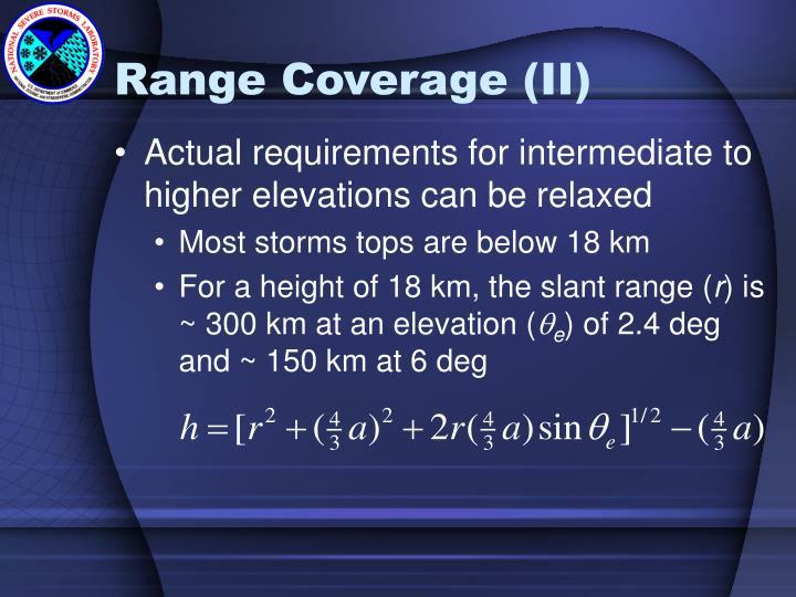 Range Coverage (II)