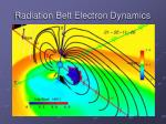 radiation belt electron dynamics