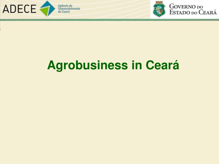 Agrobusiness in Ceará