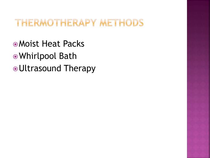 Thermotherapy Methods