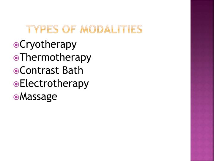 Types of Modalities