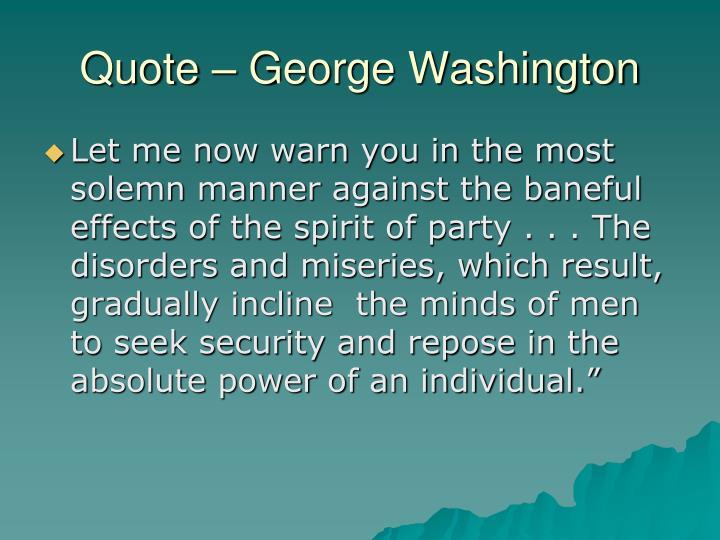 Quote – George Washington
