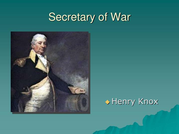 Secretary of War