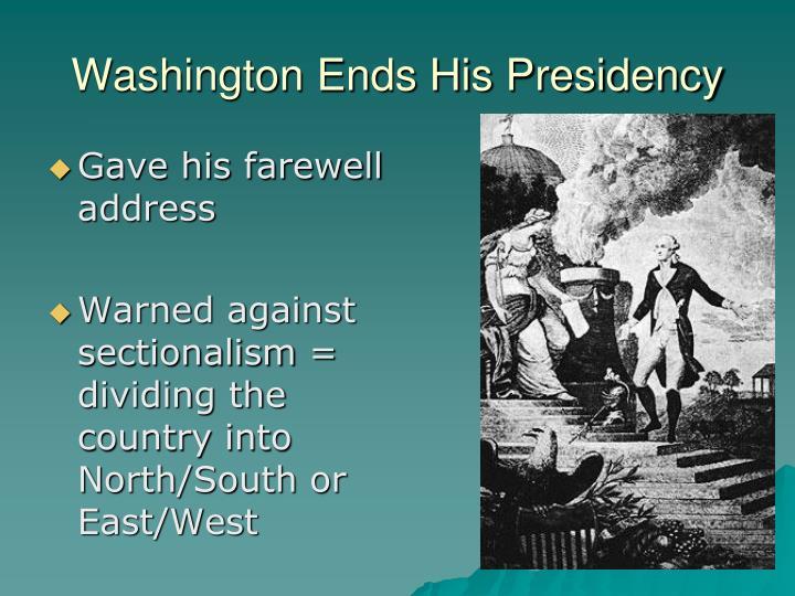 Washington Ends His Presidency