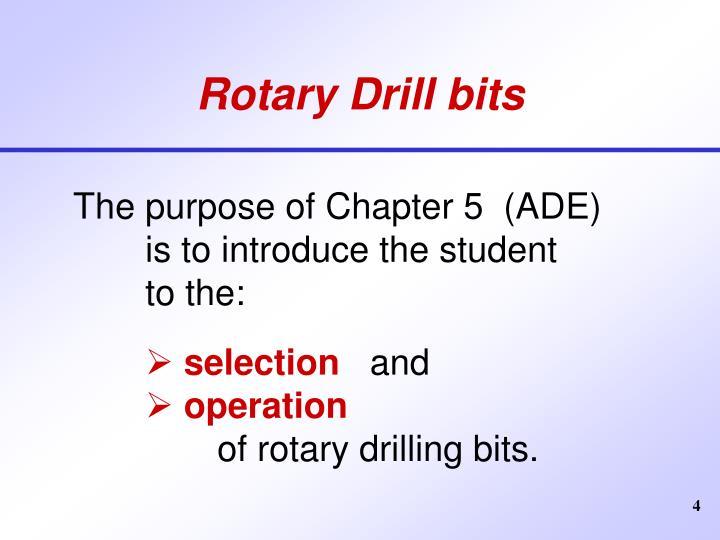 Rotary Drill bits