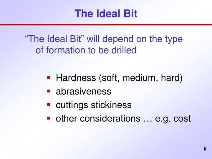 The Ideal Bit