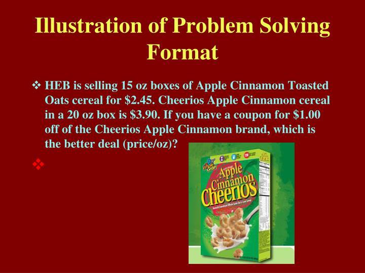 Illustration of Problem Solving Format