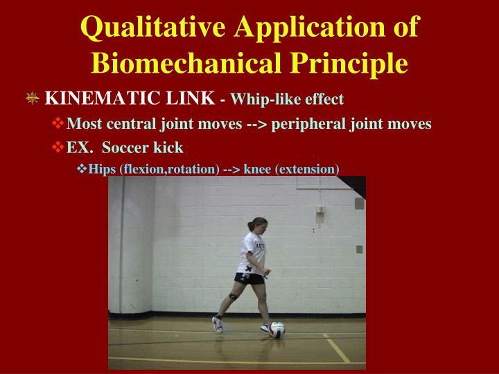 Qualitative Application of
