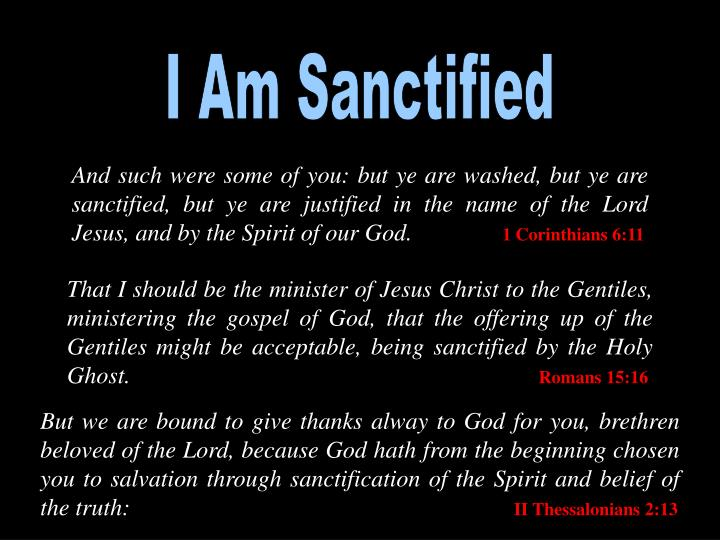 I Am Sanctified