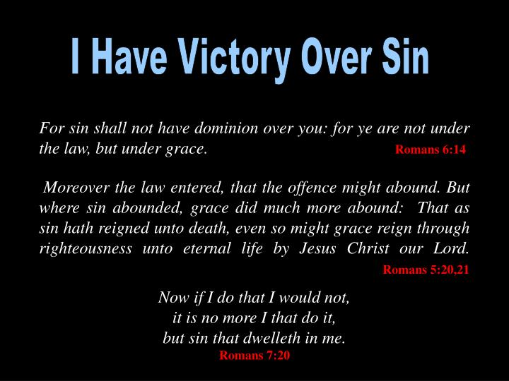 I Have Victory Over Sin