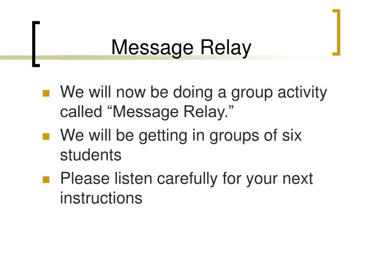 Message Relay